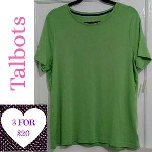 3/$20 - Talbots Woman Green Cotton Tee Shirt